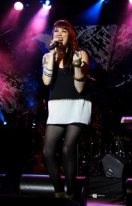 Suzy McNeil sings at the Canada Walk of Fame award's show