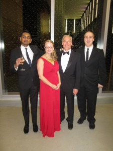 Student Association board members at the GBC Foundation gala