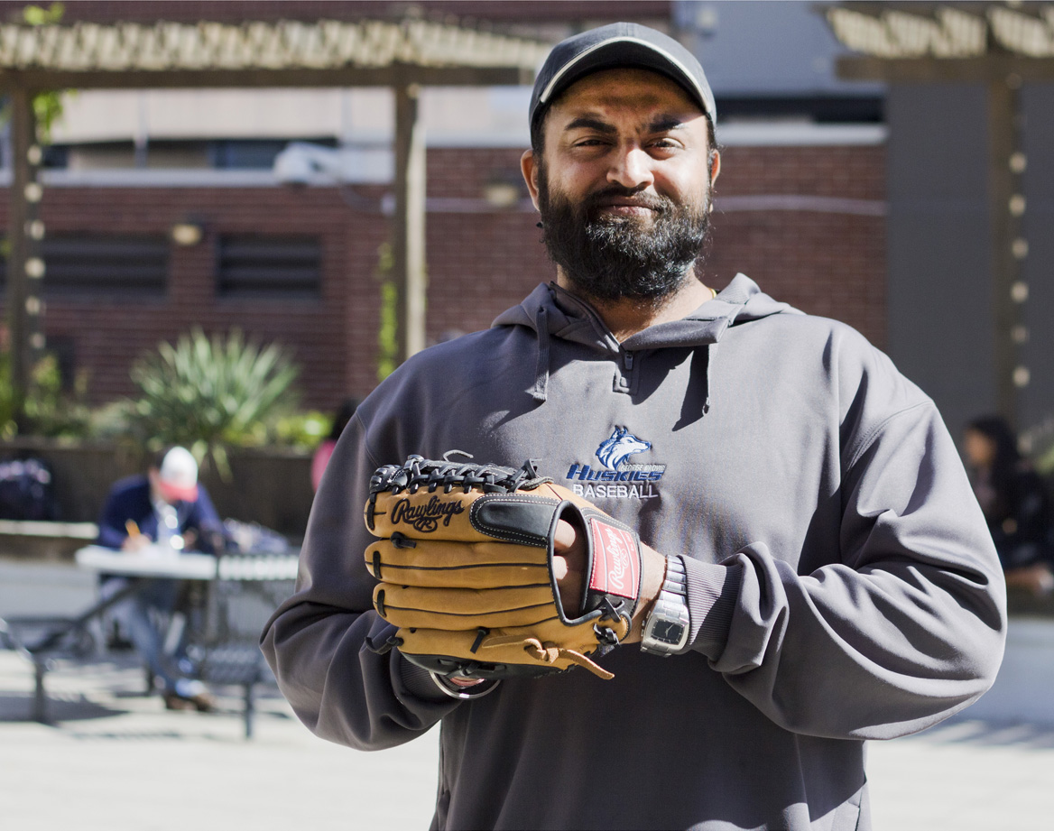 Photo of Maninder Singh Ajmani has transitioned from a cricket player to the GBC baseball varsity team in just four months.