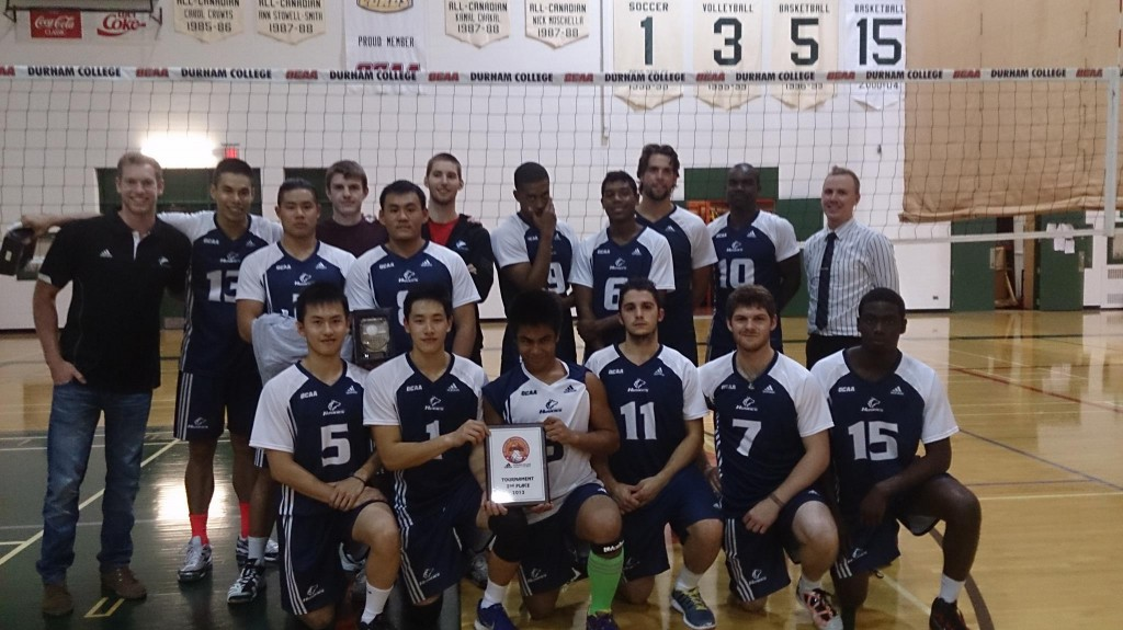 The men's volleyball team won a silver medal in the Adidas Cup Thanksgiving Classic tournament at Durham College. Photo: