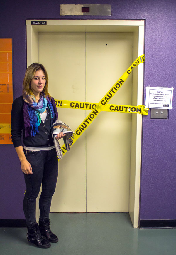 The Dialog's Staff Reporter Tina Todaro returns to the scene of her elevator ordeal at St. James.