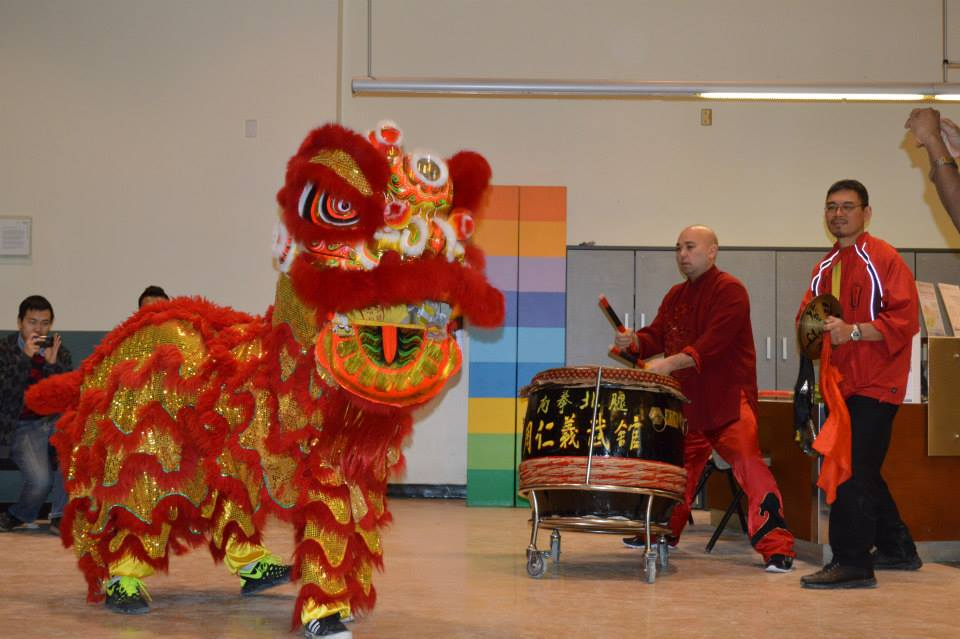 Dragon dancers and drummers celebrated the Lunar New Year at GBC with an event by the International Centre, Student life and the Student Association. Photo: GBC International Centre