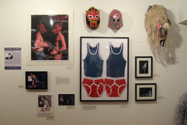 Artifacts related to works by Montreal dance artist George Stamos on display at the Canadian Lesbian & Gay Archives. Photo: Rachel Levitt/The Dialog