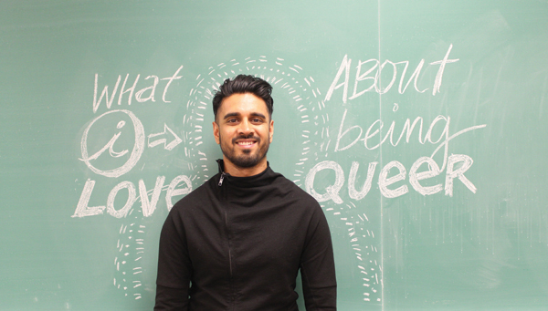 GBC positive space coordinator Vivek Shraya published the book What I Love About Being Queer. Photo: Karen Campos