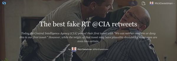 The best fake RT @CIA retweets