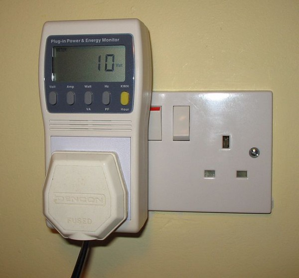 Plug monitors show part of the classroom's electricity consumption. Photo: The Gradzette