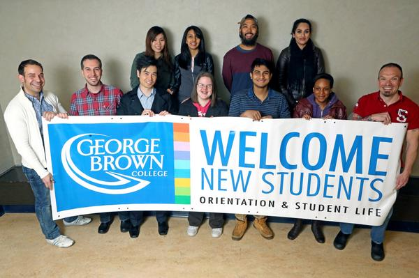 George Brown College welcomes students to orientation week 2014. Photo: George Brown College twitter