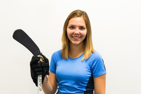 Jessica Janicki - ASL student —English interpreting program and creator of the women's extramural hockey team.