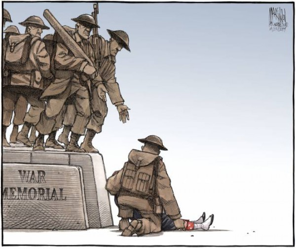 Courtesy of The Chronicle Herald  Buy a print of this cartoon and all proceeds will go to the family of Cpl. Nathan Cirillo: http://shop.thechronicleherald.ca/Cartoon-Reprint-of-Cpl-Nathan-Cirillo_p_5034.html
