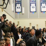 The crowd was on their feet for the thrilling end of the men's basketball home opener on Oct. 22. Photo: Brittany Barber/The Dialog