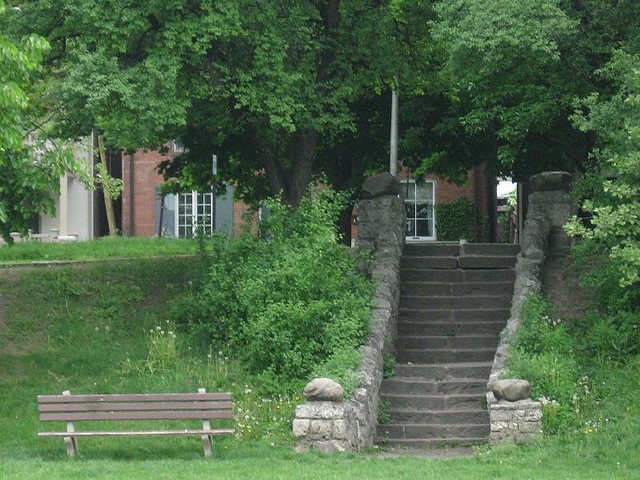 Stairs at Ramsden Park where a woman was sexually assaulted. Photo: Dan via Flickr