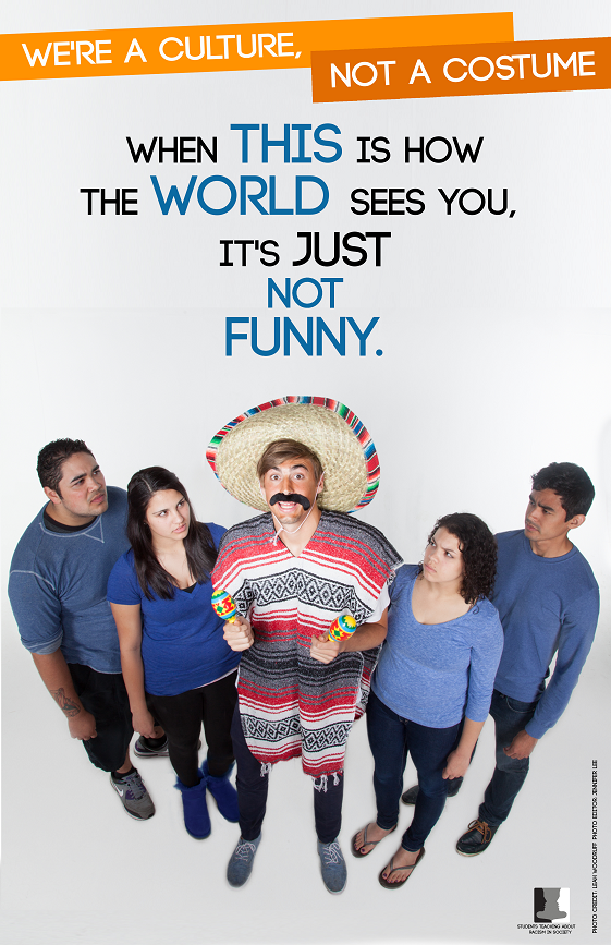 Students Teaching About Racism in Society (STARS) do an annual poster campaign to raise awareness about cultural appropriation around Halloween costumes. Photo: <a href=http://oustars.tumblr.com>STARS</a>