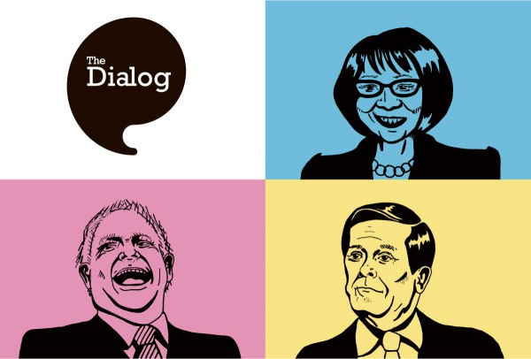 Illustration of Olivia Chow, Doug Ford and John Tory by Sam Bullis/The Dialog