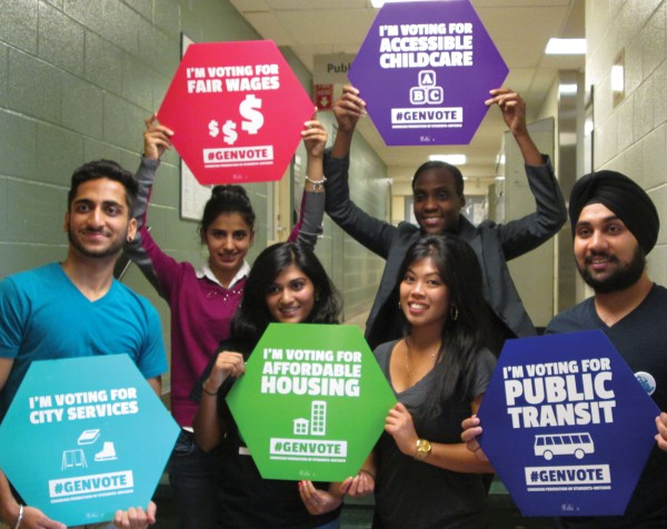 George Brown College students are part of the Generation Vote campaign. Photo provided by Michelle Pettis