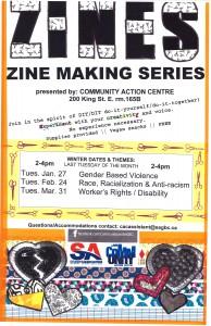 Poster of Zine-making workshop.