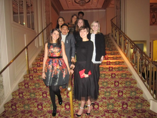 George Brown College students at the YMA Scholarship Fund gala in New York City Photo courtesy of Marilyn McNeil-Morin
