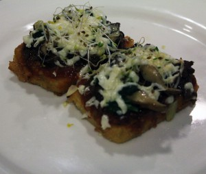 Park's winning dish: an Asian-style crispy tofu pizza Photo courtesy of Sol Cuisine