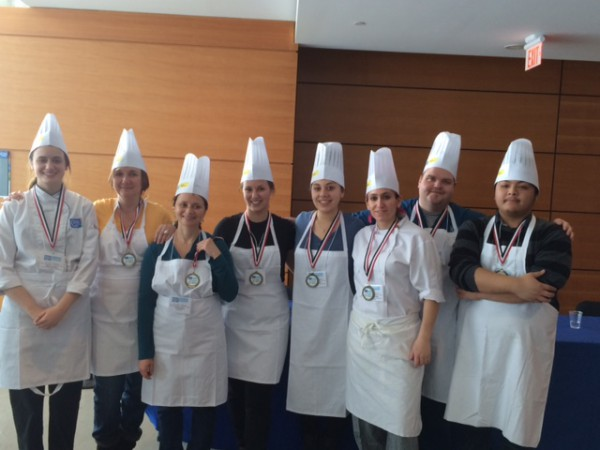 Winners of the Top Chef Challenge at Waterfront campus Photo courtesy of Shawne McKeown