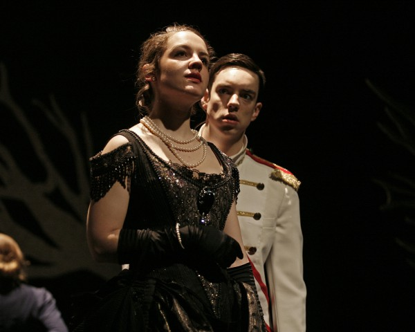 Annie Tuma and Graham Conway in George Brown Theatre's production of Anna Karenina.  Photo by Andrew Oxenham