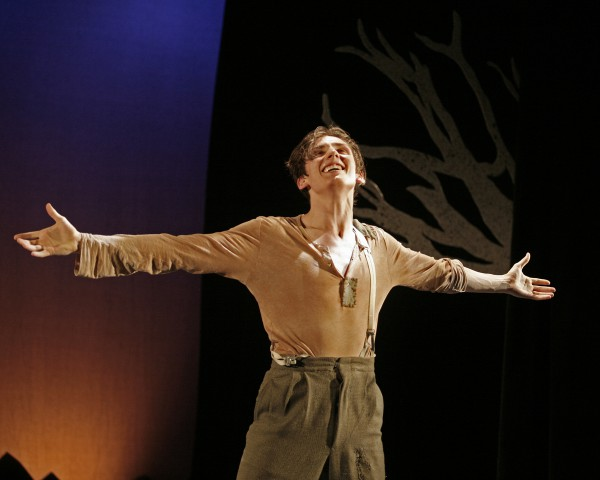 Matthew Finlan in George Brown Theatre's production of Peer Gynt.  Photo by Andrew Oxenham.