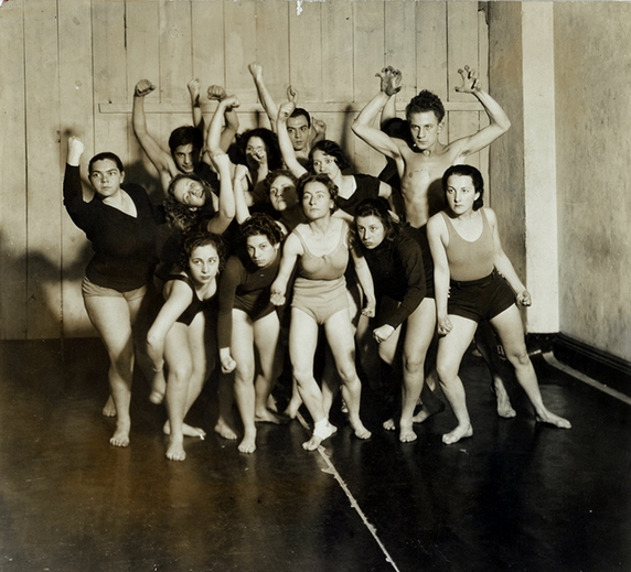Old Image of dancers who organized alongside and as part of labour struggles in the 1930s