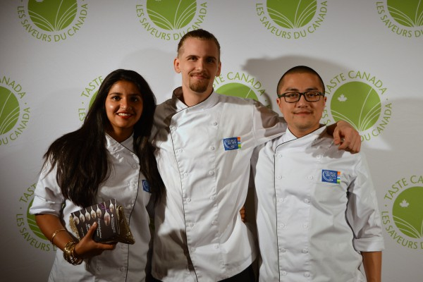 Images of Chefs Amal Rana, Brandon Achers and Emery Lin at Taste Canada Awards Gala Fundraiser Red Carpet