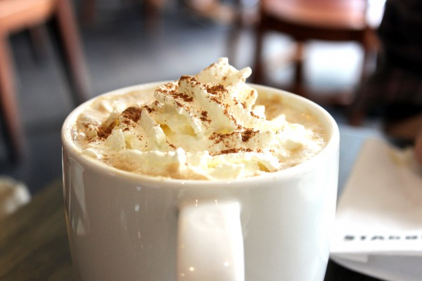 Image of cup with Pumpkin Spice Latte