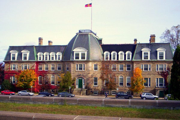 Image of Sir Howard Douglas Hall - the Old Arts building on the University of New Brunswick Campus in Canada.