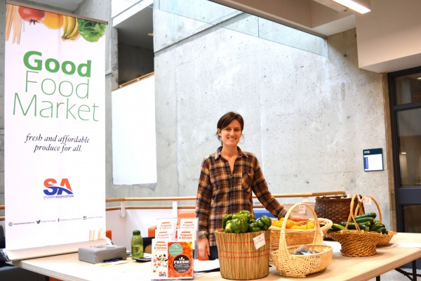 Image of Claire Whitehead at Good Food Market at Casa Loma campus