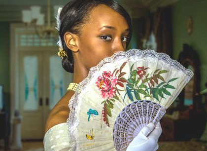 Image of Actress Julia Vescio from the Lady Windermere's Fan play