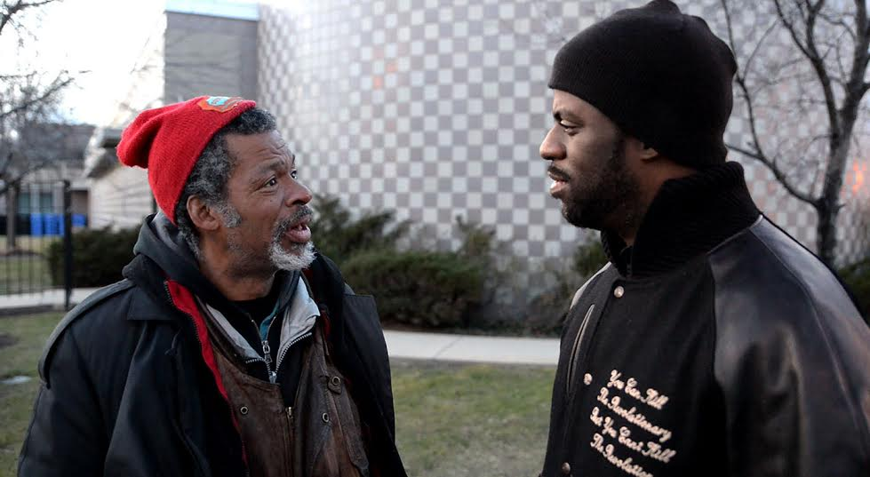 "Rapper Che ""Rhymefest"" Smith (right) with his father Brian Tillman"