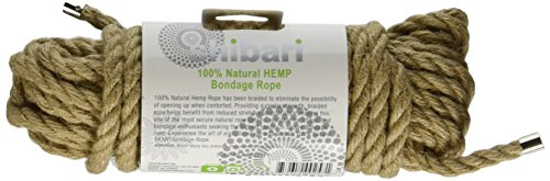 Shibari 100% Natural Hemp Rope -- Tie your lover down with 10 meters of fun!