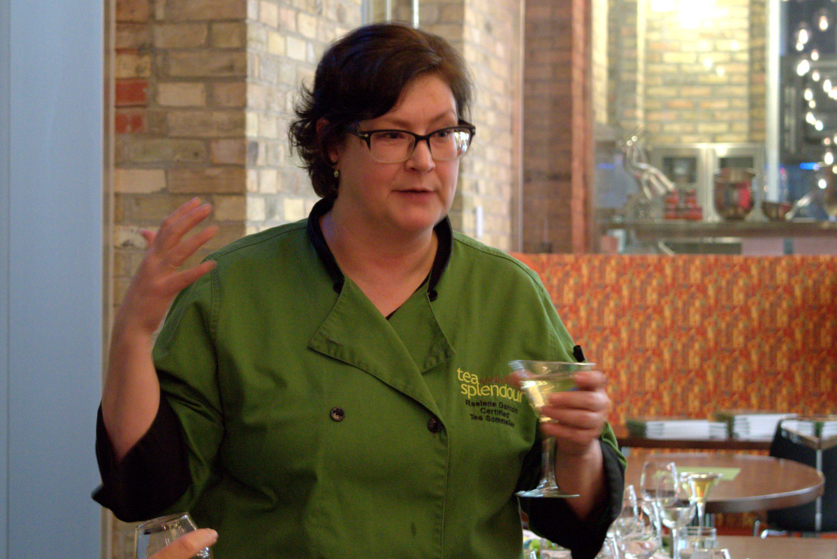 Raelene Gannon, author of Tea: from cup to plate visited the Chefs House on March 9. Photo: Aliona Kuts/The Dialog