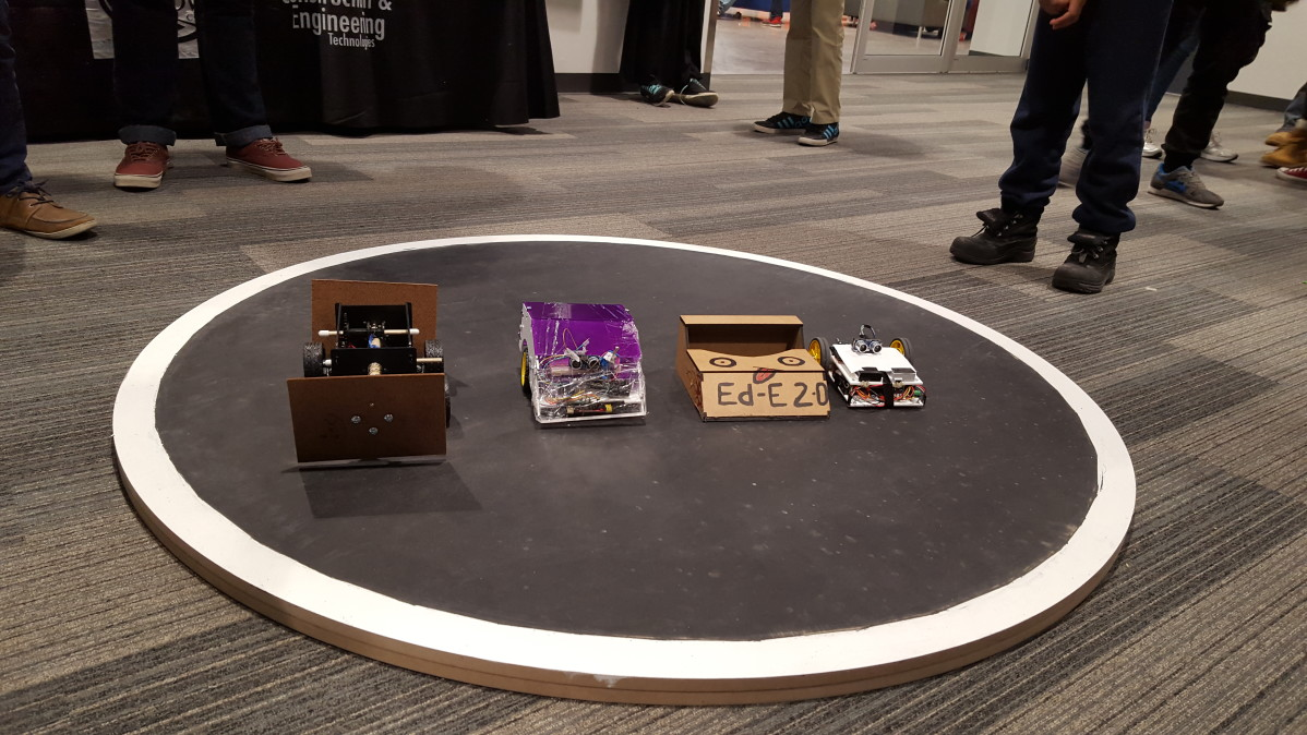 The Sumo wrestling robots of Casa Loma campus. Photo: Charlotte Cameron / The Dialog