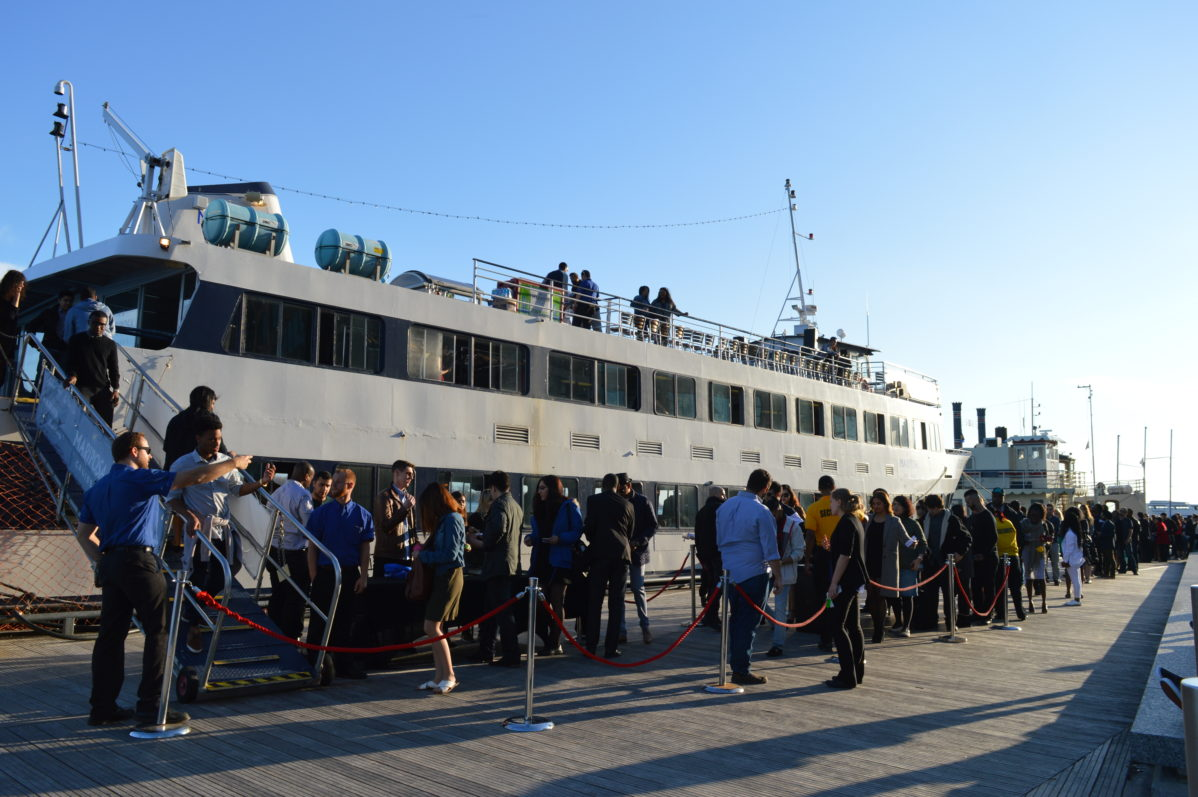 The line up outside the cruise revealed why it was SOLD OUT