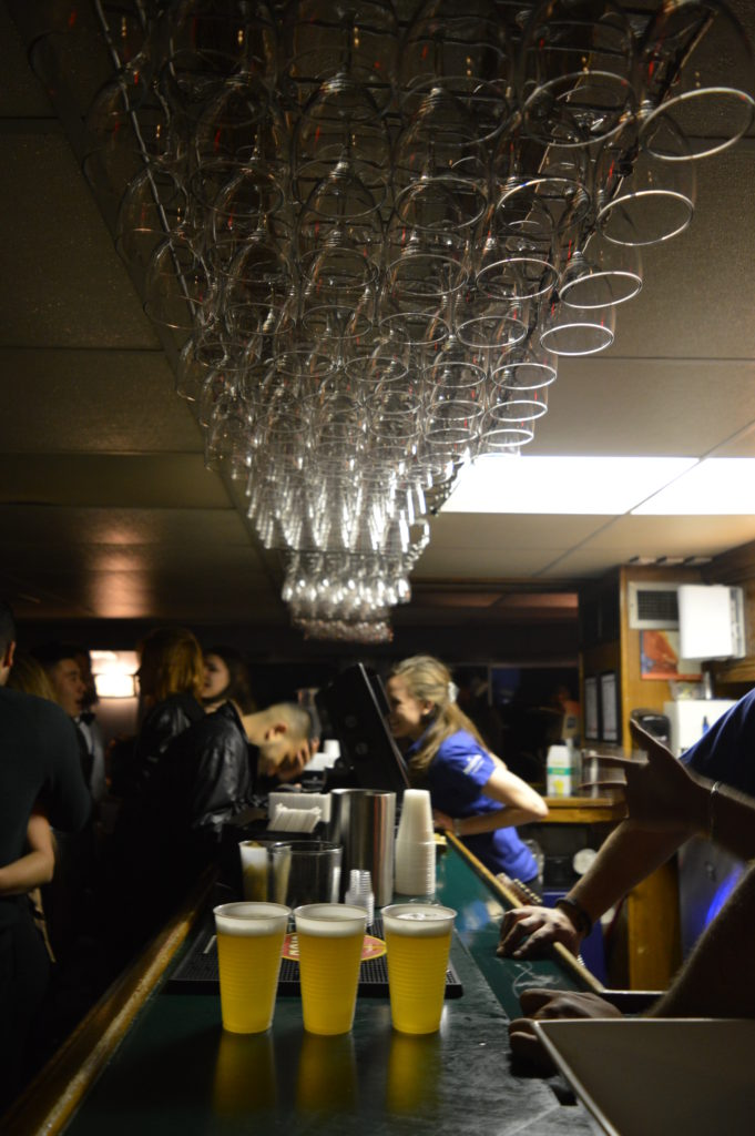 The bar was jam packed and served a variety of beer, vodka, wine, tequila to choose from