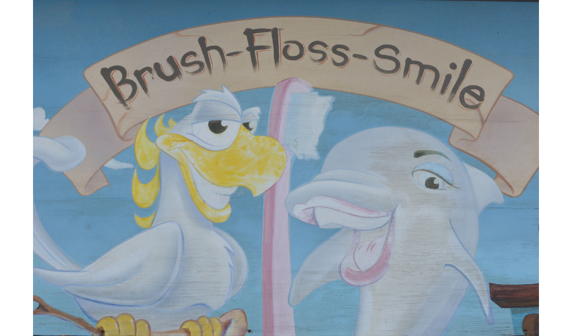Brush1 Floss Smile mural at Dupont and Bathurst