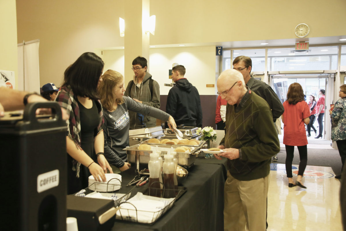 Today George Brown College held a pancake breakfasts raising money for the United Way Toronto & York Region. Here are some photos from the St. James breakfast by Nazy Entezari / The Dialog