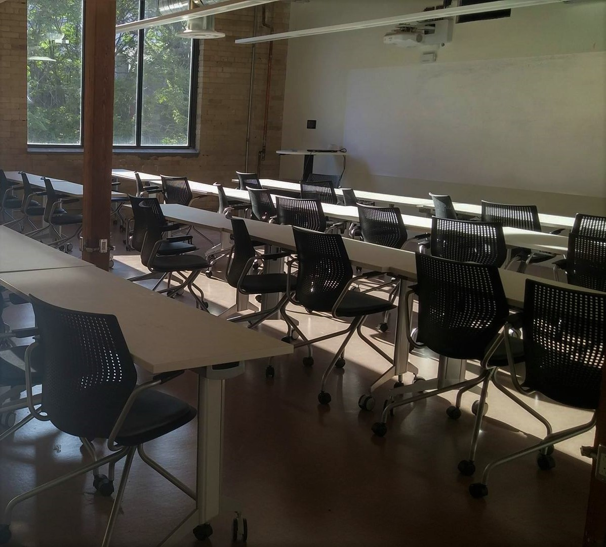 The renovated SJE building on Richmond Street features new classrooms and labs for students. Photo: Naomi Guha / The Dialog