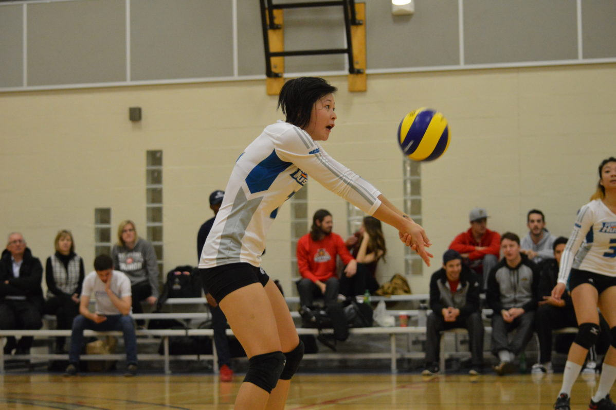 George Brown Huskies women's volleyball defeats Canadore Panthers
