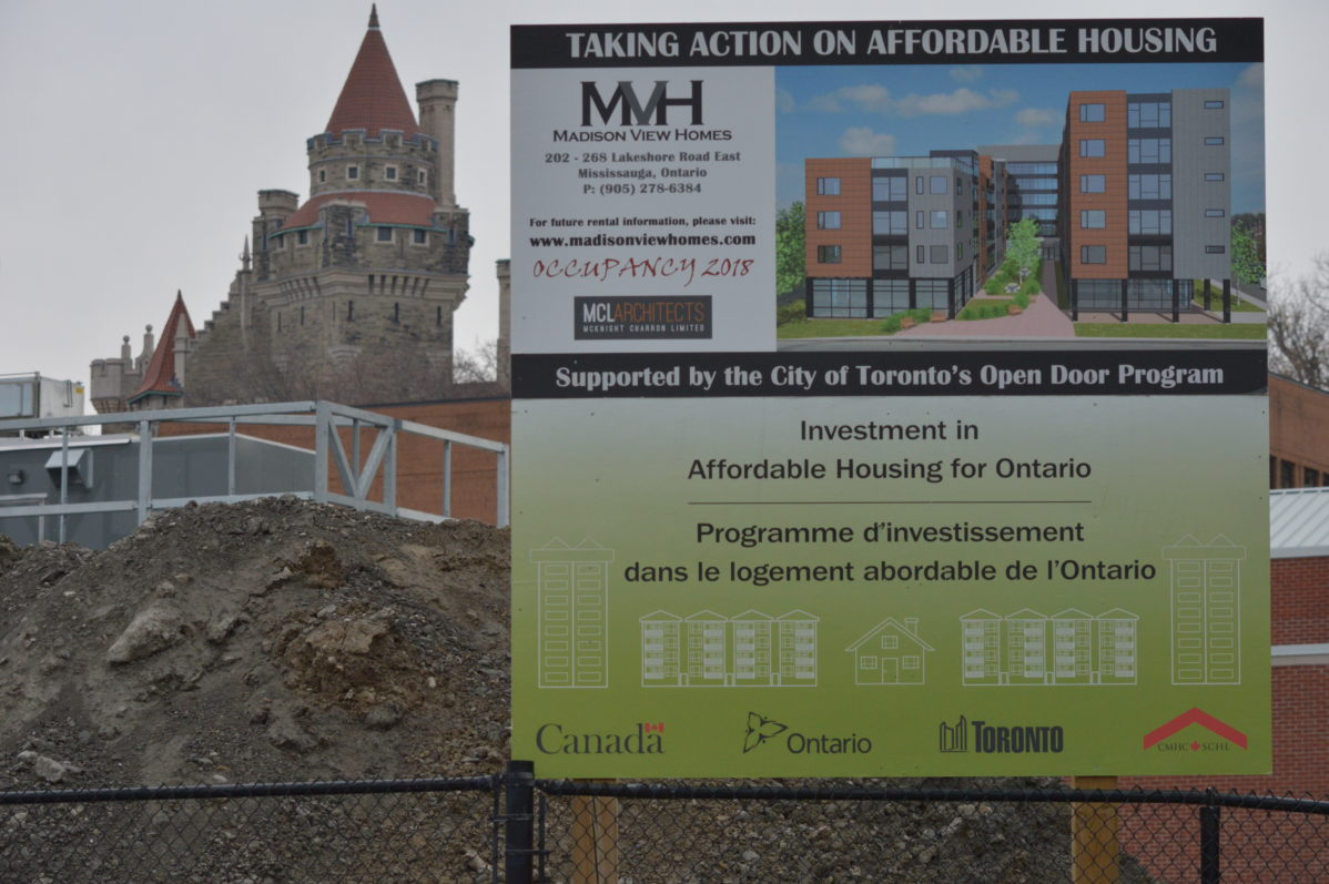 An apartment building with 82 units of affordable housing is being built near Casa Loma campus. Photo: Steve Cornwell / The Dialog