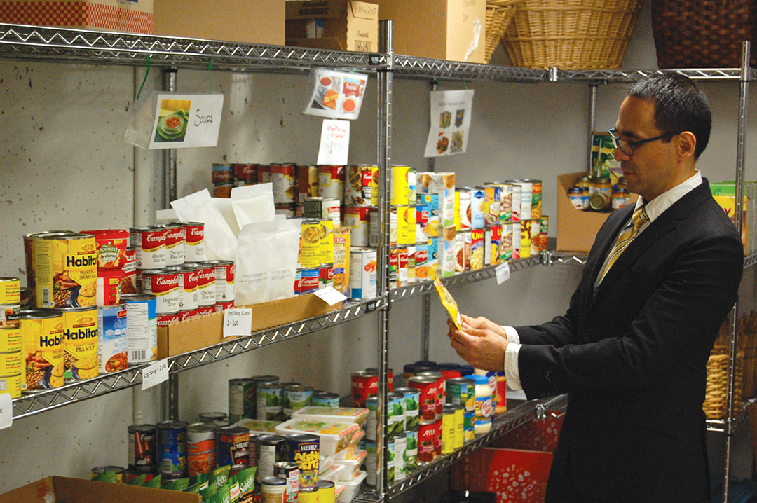 Richard Villavicencio at SA food bank