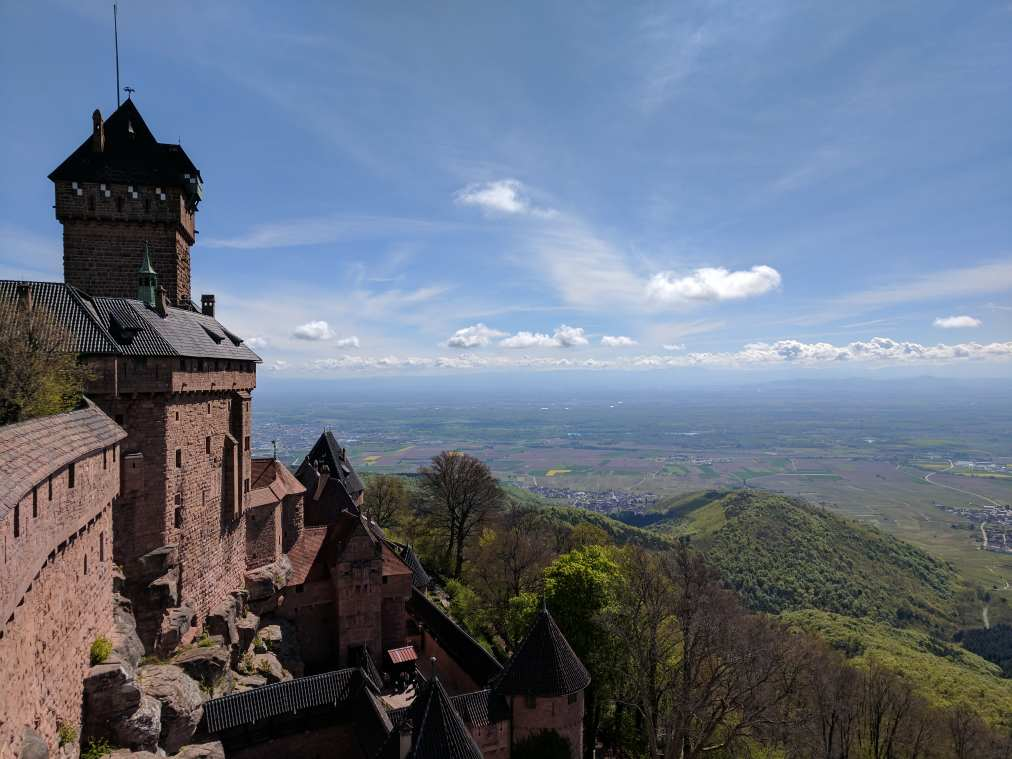 The Dialog's reporter-editor Kelsey Rambaran participated in a study-abroad leadership course for GBC students in Europe that includied a visit to the Haut-Koenigsbourg Castle in Germany. Photo: Kelsey Rambaran / The Dialog