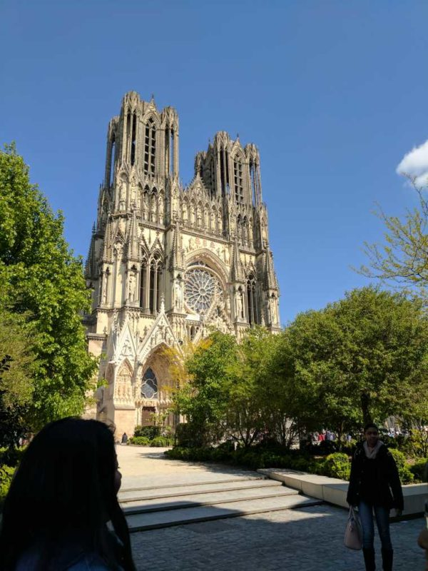 The trip included a visit to Notre Dame in Reims as students absorbed both French food and culture. Kelsey Rambaran / The Dialog