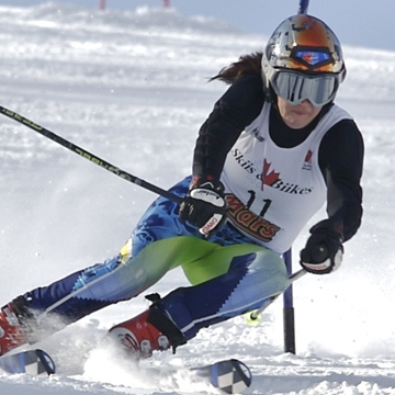 Marla Henderson won provincial gold in skiing. Photo: George Brown College