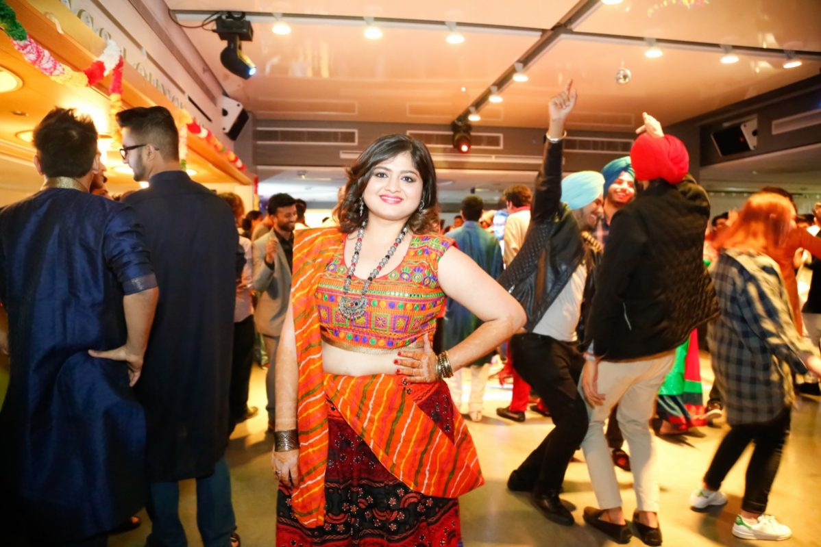 Riddhi Modi, the Student Association's director of communications and internal, helped organize a Dwalia and Garba night in the Kings Lounge at George Brown College. Photo: HSR Photography courtesy of the Student Association of George Brown College.