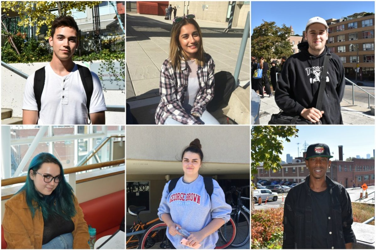 George Brown College students