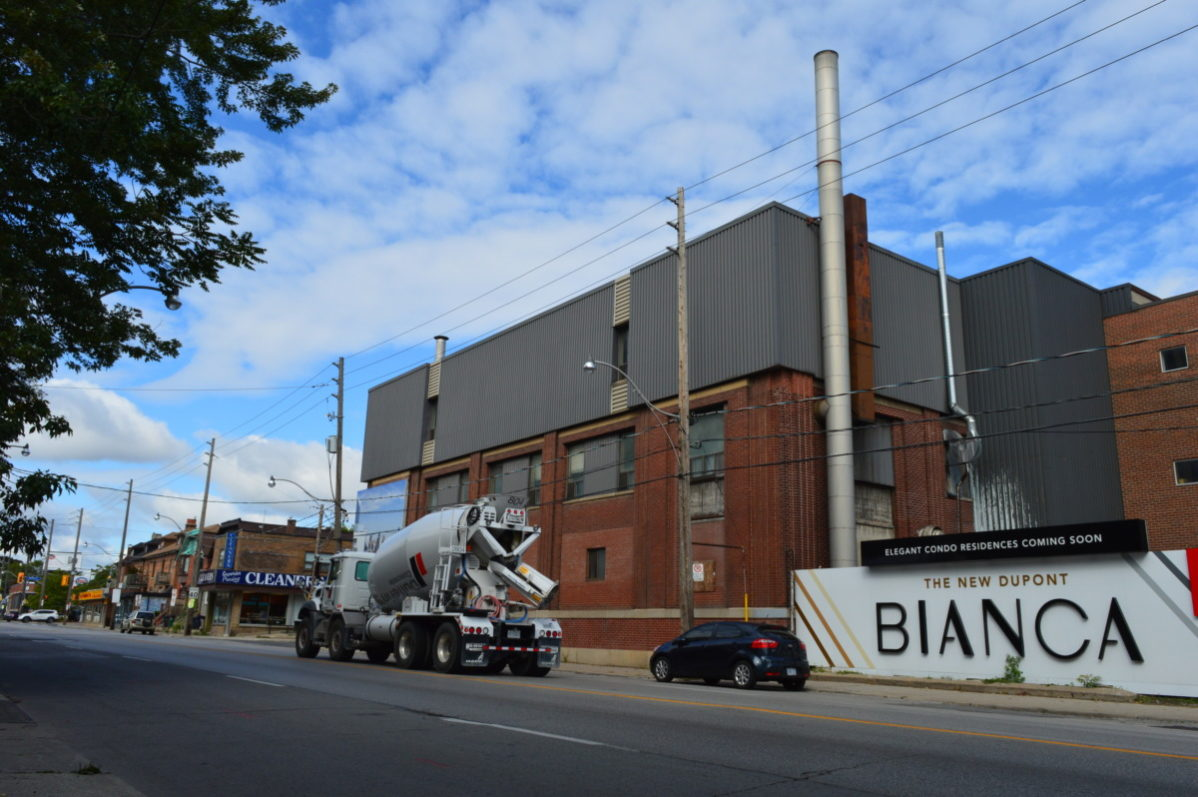 420 Dupont St. will soon be the site of the Bianca condo development. Photo: Megan Kinch / The Dialog