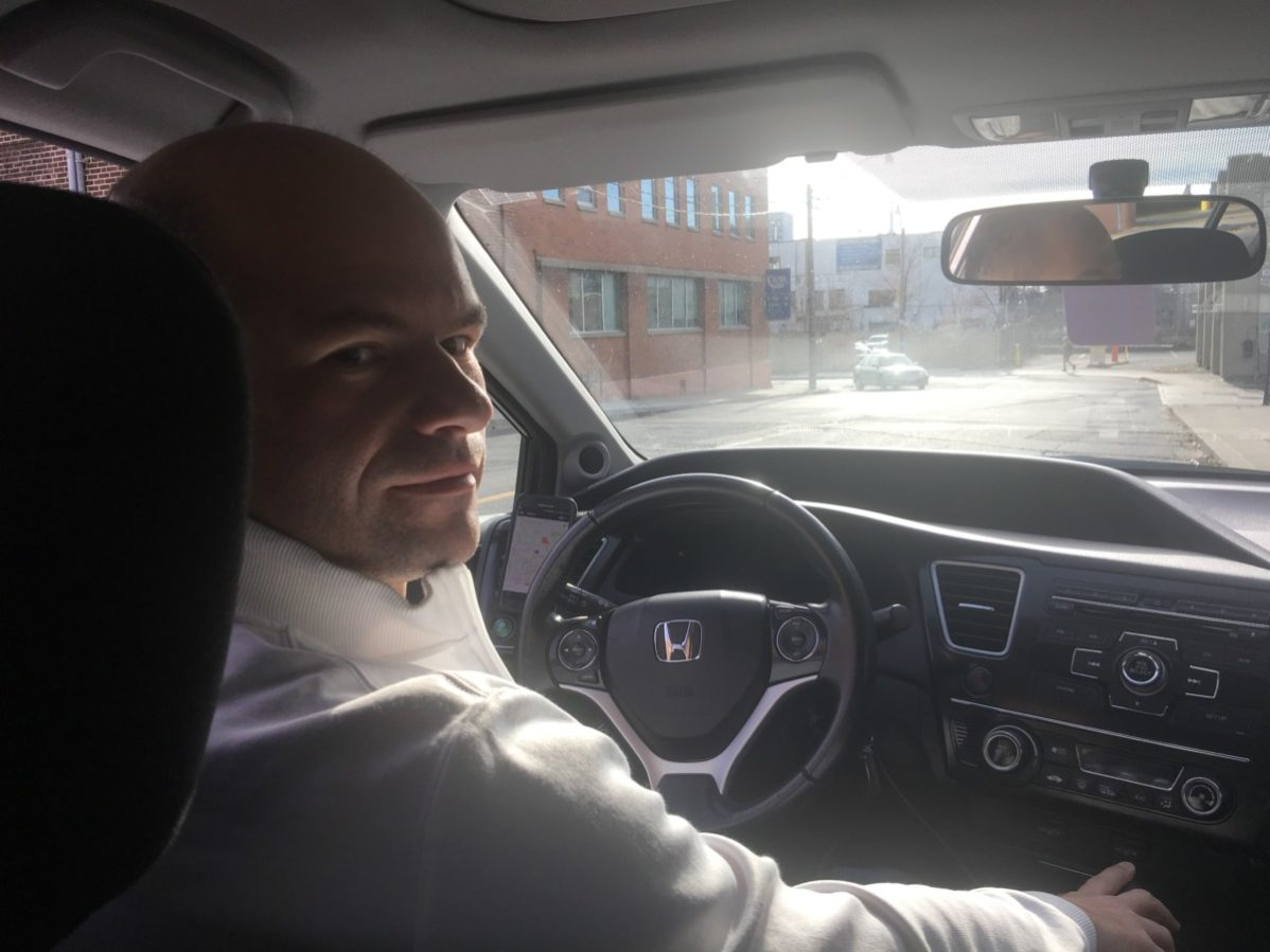 The GBC student, Fabio Ferreira, works part-time as Uber driver and he is concerned about the security incident at the company. Photo: Lidianny Botto / The
