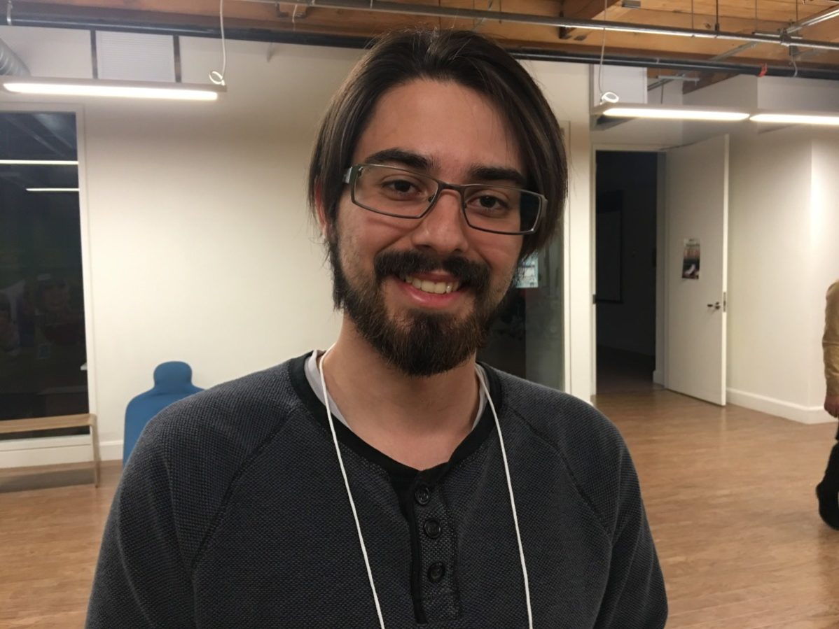 Game design postgraduate, Guilherme Bandini and his team won this year's $600 hackathon prize.